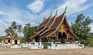 Wat Xieng Thong Buddhist temple in Luang Phrabang, Laos