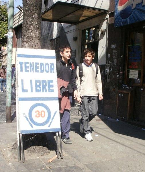 File:Tenedor Libre in Buenos Aires, Argentina.jpg