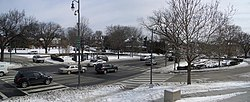 Panoramic view of Tenley Circle