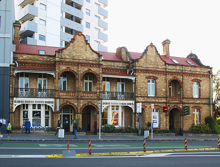 Terraced housing built in 1897 as residential buildings and associated place houses for John Endean Terrace Houses Auckland.jpg