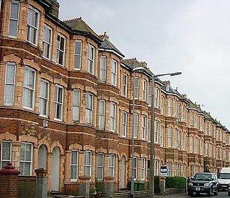 Sheerness - Terraced houses near the seafront