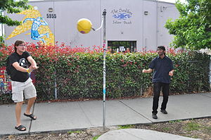 Tetherball - Tetherball installed for public use on a street corner in the Georgetown neighborhood of Seattle, Washington, 2013