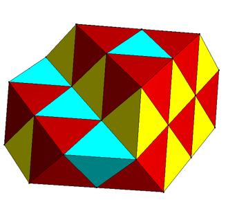 Alternated hypercubic honeycomb - Image: Tetrahedral octahedral honeycomb 2