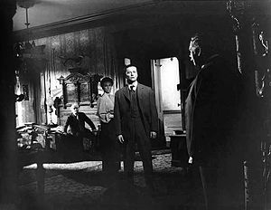 Tim Holt - Richard Bennett, Agnes Moorehead, Tim Holt and Ray Collins in The Magnificent Ambersons (1942)