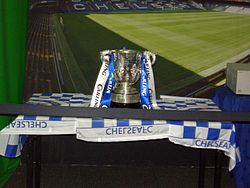 The Football League Cup on display.