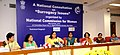 The Chairperson of National Commission for Women, Smt. Lalitha Kumaramangalam addressing a press conference on 'The National Consultation on Surrogacy Issues', in New Delhi on October 15, 2015.jpg
