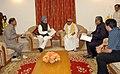 The Chief Minister of Tamil Nadu, Dr. M. Karunanidhi meeting the Prime Minister, Dr. Manmohan Singh, at Chennai on January 07, 2009 (1).jpg