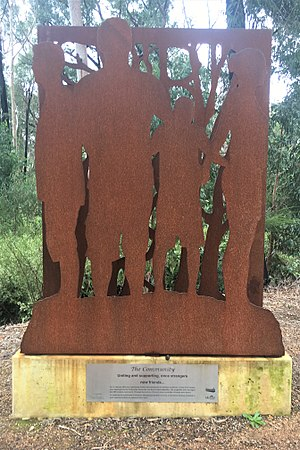 Railway Reserves Heritage Trail - The Community, art piece on the Railway Reserves Heritage Trail, Stoneville