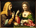 The Conversion of the Magdalene, or An Allegory of Modesty and Vanity, view 1, by Bernardino Luini, Milan, c. 1520, oil on panel - San Diego Museum of Art - DSC06675.JPG