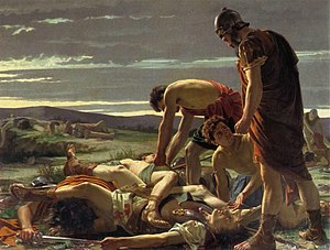 Catiline - Alcide Segoni's The Discovery of the Body of Catiline (1871). In the Gallery of Modern Art, Florence
