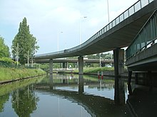 The Hague Bridge GW 314 Hubertusviaduct (07) and GW 347 Voetbrug Koninginnegracht (04).JPG