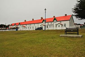 Listed buildings in the Falkland Islands - Image: The Houses by Victory Green in Stanley, Falkland Islands