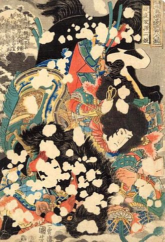Sun Erniang - An illustration of Sun Erniang by Utagawa Kuniyoshi