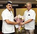 The Lt. Governor of Andaman & Nicobar Islands, Lt. General (Retd.) Shri A.K. Singh calling on the Union Minister for Civil Aviation, Shri Ashok Gajapathi Raju Pusapati, in New Delhi on July 27, 2016.jpg