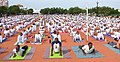 The Minister of State for Road Transport & Highways and Shipping, Shri P. Radhakrishnan performing Yoga, on the occasion of the 3rd International Day of Yoga – 2017, at Madurai on June 21, 2017 (1).jpg