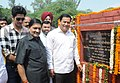 The Minister of State for Skill Development, Entrepreneurship, Youth Affairs and Sports (Independent Charge), Shri Sarbananda Sonowal laid the foundation stone of the Youth Training Centre, in New Delhi on September 13, 2014.jpg