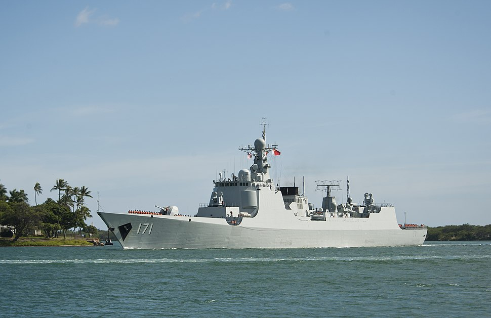 The People's Liberation Army (Navy) ship PLA(N) Haikou (DD 171) returns to port after participating in the at-sea phase of Rim of the Pacific (RIMPAC) Exercise 2014