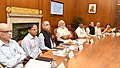 The Prime Minister, Shri Narendra Modi reviewing the progress of Aadhar and Direct Benefit Transfer programmes at a high level meeting, in New Delhi on May 09, 2016 (1).jpg