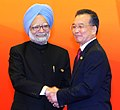 The Prime Minister Dr. Manmohan Singh being welcomed by the Chinese Prime Minister, Mr. Wen Jiabao, at 7th ASEM Summit, in Beijing, China on October 24, 2008.jpg