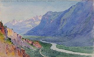 The Rhone from the Path to Salvari (Switzerland)