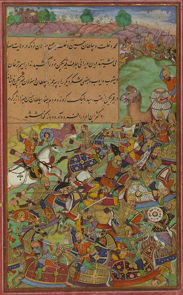 File:The battle of Sultan Ḥusayn Mīrzā against Sultan Masʿūd Mīrzā at Hiṣṣār.jpg