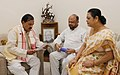 The former Chief Minister of Assam, Shri Prafulla Kumar Mahanta calling on the Minister of State for Culture and Tourism (Independent Charge), Dr. Mahesh Sharma, in New Delhi on July 20, 2017 (1).jpg