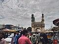 The hustle in the Charminar Market.jpg