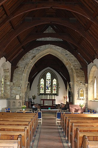 The Church of the Holy and Undivided Trinity, Edale - Image: The nave and chancel of Edale Church