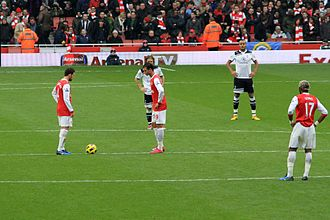 North London derby - Kick-off for the second half at the north London derby, 20 November 2010. Arsenal were 2–0 up at this point, but were beaten 3–2.