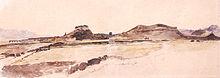 Tranh vẽ Vạn Lý Trường Thành vào năm 1900