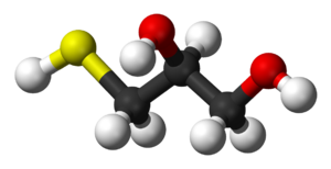 3-Mercaptopropane-1,2-diol - Image: Thioglycerol 3D balls