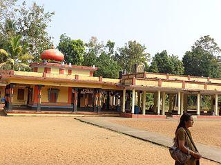Thiruvanvandoor Town in Kerala, India