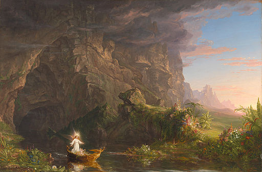 Thomas Cole - The Voyage of Life Childhood, 1840 (Munson-Williams-Proctor Arts Institute)