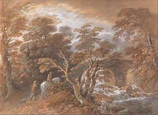 Hilly Landscape with Figures Approaching a Bridge