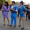 Three cosplayers of Kochikame at CWT47 20171210a.jpg