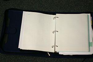 Ring binder - Image: Three ring binder