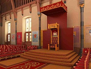 Prinsjesdag - Throne of the monarchs of the Netherlands in the Ridderzaal in The Hague