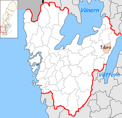 Tibro Municipality in Västra Götaland County.png
