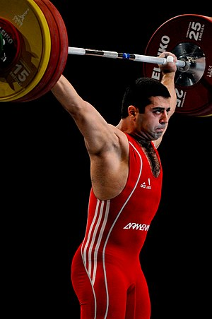 Weightlifting in Armenia - Tigran Gevorg Martirosyan is a World and European champion and an Olympic bronze medalist