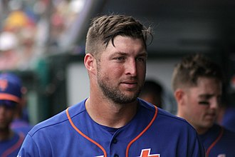 Tim Tebow - Tebow during spring training in 2017