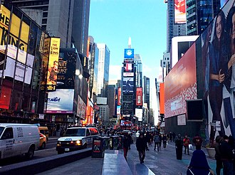 Pedestrian malls in the United States - Times Square Pedestrian Mall in New York City
