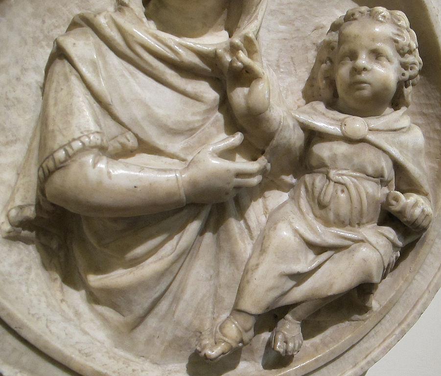 File:Tino di camaino, madonna col bambino, da sagrestia della ...