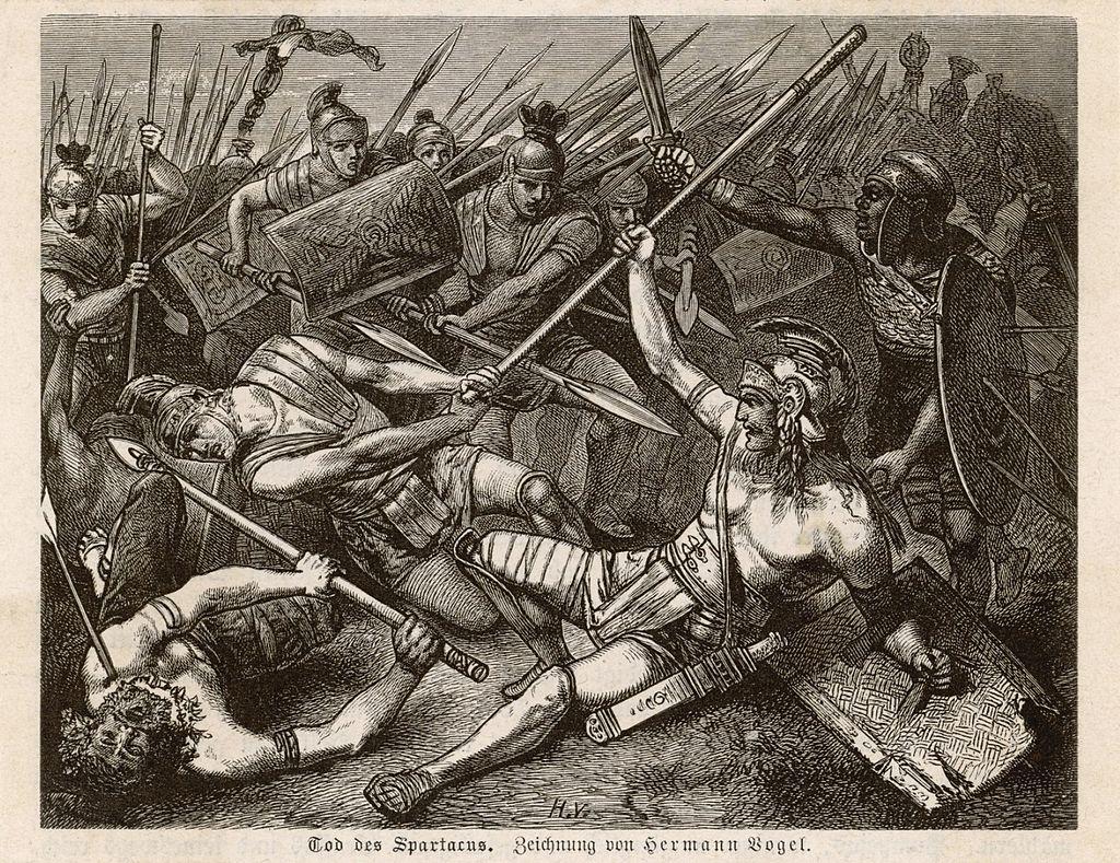 Tod des Spartacus by Hermann Vogel