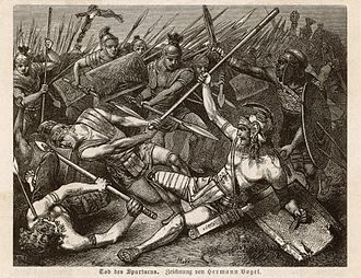 Spartacus - The Death of Spartacus by Hermann Vogel (1882)