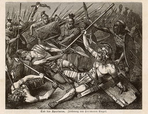 Tod des Spartacus by Hermann Vogel