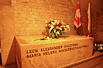 Tomb of President Lech Kaczyński and his wife Maria in the crypts of Wawel Cathedral (6596605377).jpg