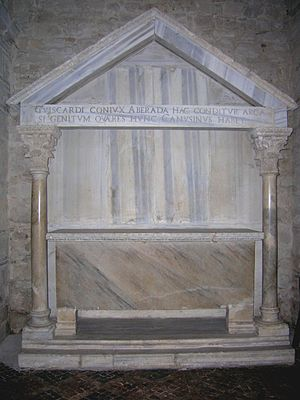 Alberada of Buonalbergo - Grave of Aberada/Alberada, Abbey of Holy Trinity, Venosa.