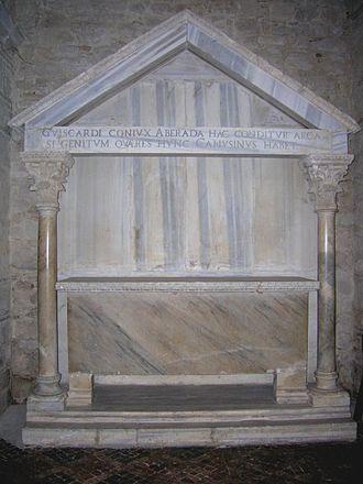Alberada of Buonalbergo - Grave of Aberada/Alberada, Abbey of Holy Trinity, Venosa.