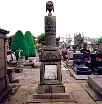 Julien Cosmao - His grave at St Martin cemetery, Brest