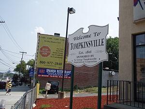 Tompkinsville, Staten Island - Tompkinsville Welcome Sign